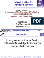 Test Automation for Embedded Devices