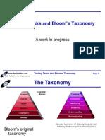 Testing Tasks n Blooms Taxonomy
