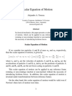 A Scalar Equation of Motion