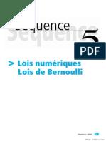 ES Maths - CNED - Sequence-05 - ES Maths CNED Sequence 3 (sur 10) Lois numeriques, Lois de Bernoulli