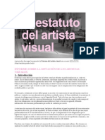 ESTATUTO DEL ARTISTA VISUAL.doc