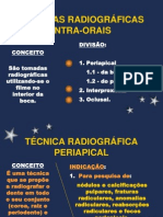 TÉCNICA RADIOGRÁFICA PERIAPICAL