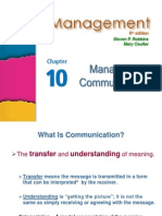 09 Management I - Ch 10 Communication