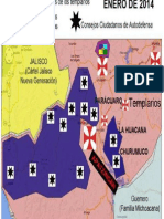 Mapa Autodefensas Michoacan Enero2014