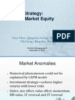 Book to Market Equity Anomaly