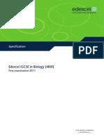 Y11 Specification - BIOLOGY 2012 - Manchester Grammar School