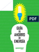 GUÍA DE AHORRO DE ENERGÍA. GREENPEACE, MÉXICO