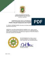 Documentos AppleCare Service Company en Puerto Rico