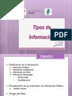 Tipos de Informacion
