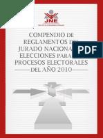 Compendio de Reglamentos JNE 2010