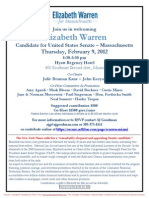 Fundraiser for Elizabeth Warren