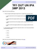 Download Soal SOAL TRY OUT UN IPA SMP 2013 Latihanun.com 2