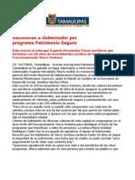 com 0453, 111105 Reconocen la labor de Eugenio Hernández Flores por el Programa Patrimonio Seguro.