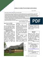 World Christian Endeavor News, Sep. 2009