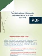 Plan de Desarrollo de Banda Ancha en El Peru