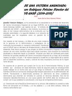 (3)CRÓNICA DE UNA VICTORIA ANUNCIADA, GERALDINO CAMINERO RODRÍGUEZ, PRÓXIMO DIRECTOR DEL CURVE-UASD, 2014-2018.
