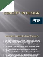 Concept in architectural design