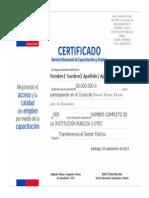 Certificado Sence Generico 2013 Matriz 1