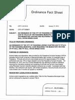 Proposed Pasadena Pit Bull Ordinance