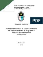 Proyecto de Investigacion de Nutricion