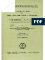 Moscati Comparative Grammar of Semitic Languages