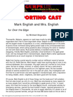 Supporting Cast - Mark English and Mrs English (for Over the Edge)