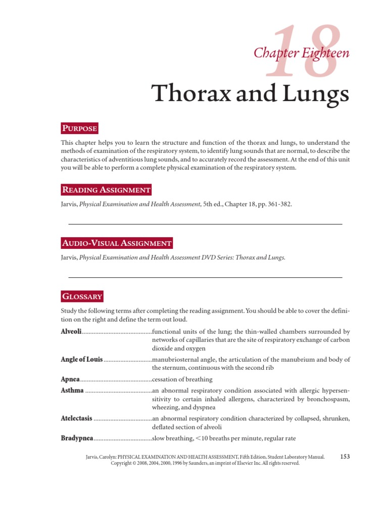 chapter eighteen lung thorax rh es scribd com Laboratory Manual Icon' Microbiology Laboratory Manual Answers Sheets