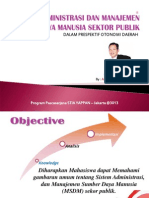 MSDM Sektor Publik