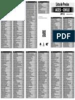 Lista de Precios 2012 PDF