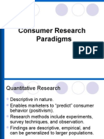 Consumer Research Paradigms