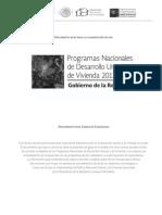 SEDATU-Programa Nal. Desarrollo Urbano