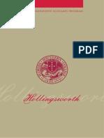 Hollingsworth Scholars Program Brochure