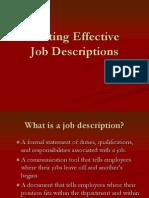 Job Desc Workshop