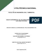 Ensayo Experimental de Los Conectores de Corte de Las Losas Tipo Deck.