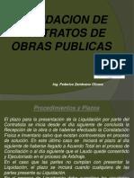 Liquidacion de Contratos en Obras Publicas