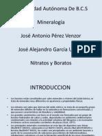 Nitratos y Boratos