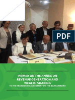 Primer on the Annex on Revenue Generation and Wealth Sharing