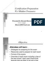 Oracle Certification Preparation(OCP) and Hidden Treasures