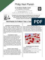 Bulletin for January 25 - 2014