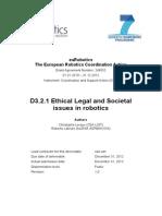 EuRobotics Deliverable D.3.2.1 ELS IssuesInRobotics