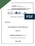 Manual Contabilidad Computarizada i - 2013 - i - II