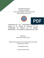 MANTENIMIENTO PREDICTIVO BASADO EN EL ANÁLISIS  DE VIBRACIÓN