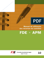 Manual de Utilização dos Recursos do Convênio FDE-APM