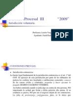 Derecho Procesal III,Jurisdicción voluntaria.-