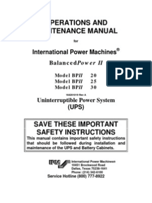 Ups Maintenace | Power Inverter | Rectifier