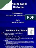Disfonia-laeli