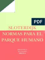 Sloterdijk Normas Para El Parque Humano Siruela