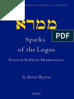 Boyarin Daniel Sparks of the Logos