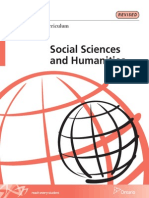 Social Sciences and Humanities 2013 Curriculum