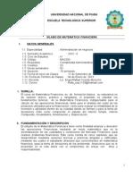 Silabo Matematica Financiera (Admin.de Negocios) Angel Morocho